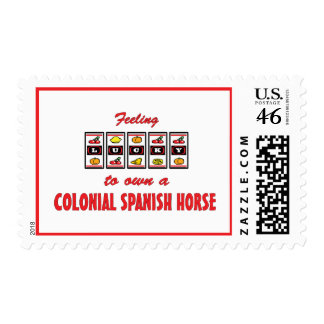 Lucky to Own a Colonial Spanish Horse Fun Design Postage Stamp