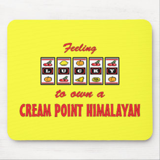 Lucky to Own a Cream Point Himalayan Fun Cat Desig Mouse Pad