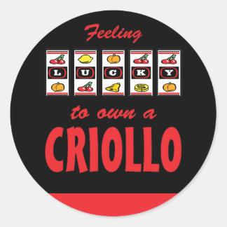 Lucky to Own a Criollo Fun Horse Design Classic Round Sticker