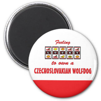 Lucky to Own a Czechoslovakian Wolfdog Fun Design 2 Inch Round Magnet