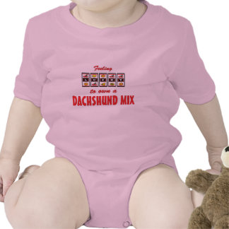 Lucky to Own a Dachshund Mix Fun Dog Design Tee Shirt