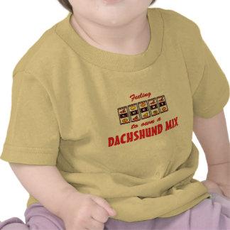 Lucky to Own a Dachshund Mix Fun Dog Design Tshirt