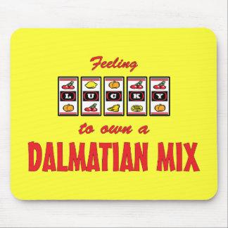 Lucky to Own a Dalmatian Mix Fun Dog Design Mouse Pad