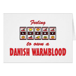 Lucky to Own a Danish Warmblood Fun Horse Design Card
