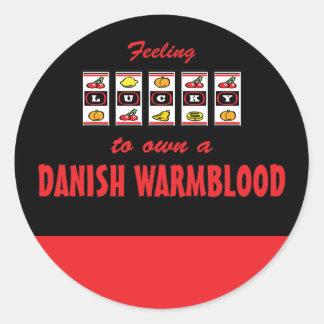 Lucky to Own a Danish Warmblood Fun Horse Design Classic Round Sticker