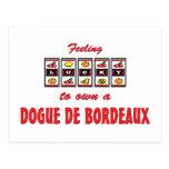 Lucky to Own a Dogue de Bordeaux Fun Dog Design Postcard