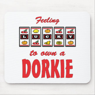 Lucky to Own a Dorkie Fun Dog Design Mouse Pad