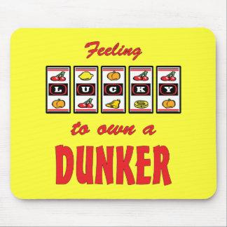 Lucky to Own a Dunker Fun Dog Design Mousepads