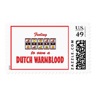 Lucky to Own a Dutch Warmblood Fun Horse Design Stamps