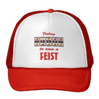 Lucky to Own a Feist Fun Dog Design Trucker Hats
