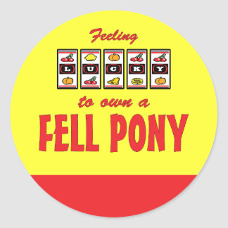 Lucky to Own a Fell Pony Fun Design Stickers
