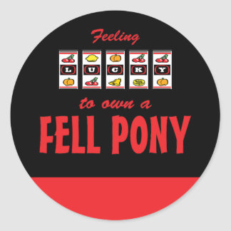Lucky to Own a Fell Pony Fun Design Sticker
