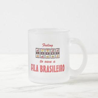 Lucky to Own a Fila Brasileiro Fun Dog Design Coffee Mugs