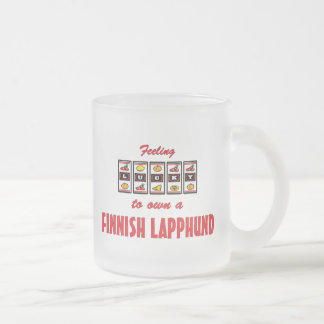 Lucky to Own a Finnish Lapphund Fun Dog Design Frosted Glass Coffee Mug
