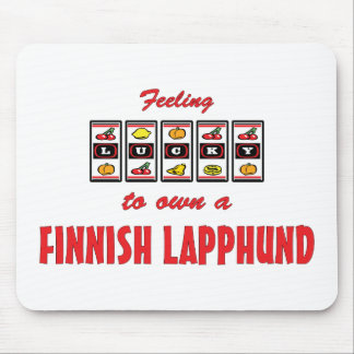 Lucky to Own a Finnish Lapphund Fun Dog Design Mouse Pad