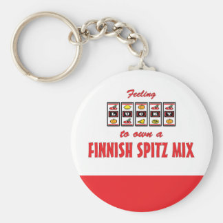 Lucky to Own a Finnish Spitz Mix Fun Dog Design Keychain