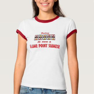Lucky to Own a Flame Point Siamese Fun Cat Design T-Shirt