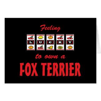 Lucky to Own a Fox Terrier Fun Dog Design Card