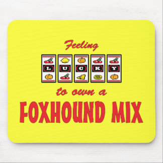 Lucky to Own a Foxhound Mix Fun Dog Design Mouse Pad