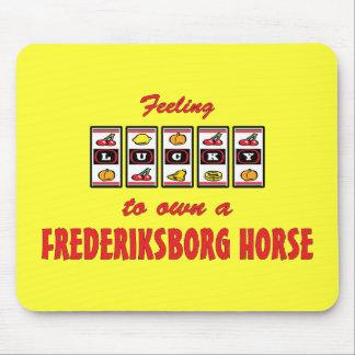 Lucky to Own a Frederiksborg Horse Fun Design Mouse Pad