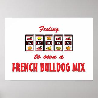 Lucky to Own a French Bulldog Mix Fun Dog Design Print