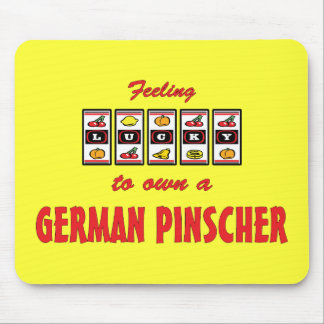 Lucky to Own a German Pinscher Fun Dog Design Mouse Pad