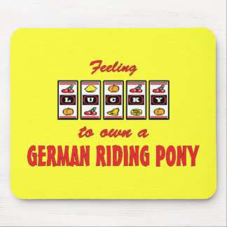 Lucky to Own a German Riding Pony Fun Design Mouse Pad