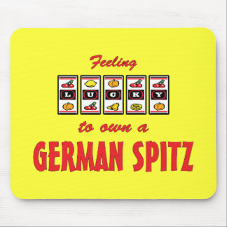 Lucky to Own a German Spitz Fun Dog Design Mouse Pad