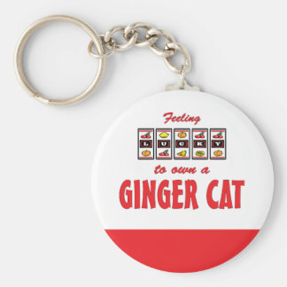 Lucky to Own a Ginger Cat Fun Cat Design Keychain
