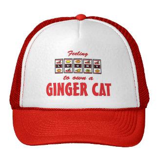 Lucky to Own a Ginger Cat Fun Cat Design Trucker Hat