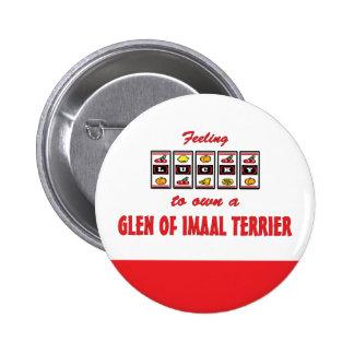 Lucky to Own a Glen of Imaal Terrier Fun Design Button