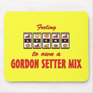 Lucky to Own a Gordon Setter Mix Fun Dog Design Mouse Pad