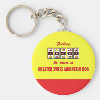 Lucky to Own a Greater Swiss Mountain Dog Basic Round Button Keychain