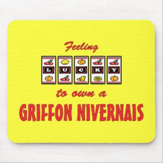 Lucky to Own a Griffon Nivernais Fun Dog Design Mouse Pad