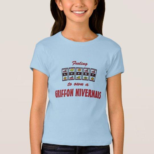 Lucky to Own a Griffon Nivernais Fun Dog Design T-Shirt