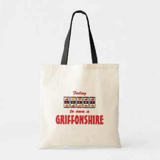 Lucky to Own a Griffonshire Fun Dog Design Bags
