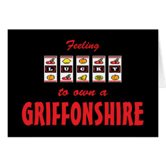 Lucky to Own a Griffonshire Fun Dog Design Greeting Cards