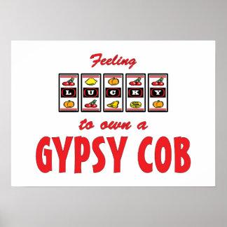 Lucky to Own a Gypsy Cob Fun Horse Design Poster