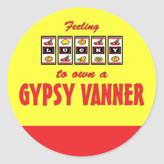 Lucky to Own a Gypsy Vanner Fun Horse Design Round Stickers