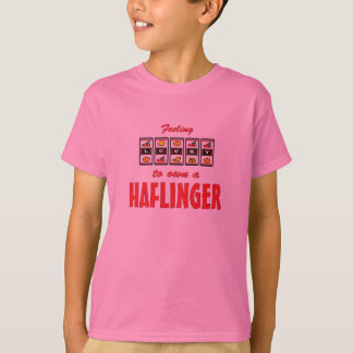 Lucky to Own a Haflinger Fun Horse Design T-Shirt