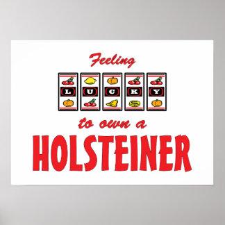 Lucky to Own a Holsteiner Fun Horse Design Print