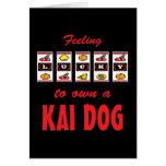 Lucky to Own a Kai Dog Fun Dog Design Cards