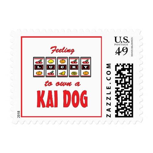 Lucky to Own a Kai Dog Fun Dog Design Postage