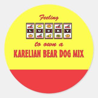 Lucky to Own a Karelian Bear Dog Mix Fun Design Sticker