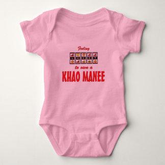 Lucky to Own a Khao Manee Fun Cat Design Tee Shirt