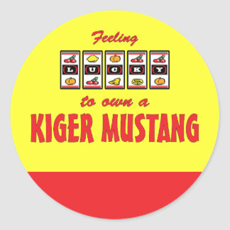 Lucky to Own a Kiger Mustang Fun Horse Design Classic Round Sticker