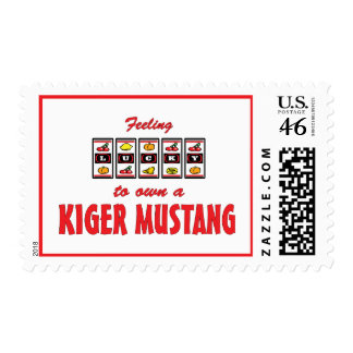 Lucky to Own a Kiger Mustang Fun Horse Design Postage Stamp