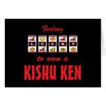 Lucky to Own a Kishu Ken Fun Dog Design Cards