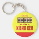 Lucky to Own a Kishu Ken Fun Dog Design Key Chain