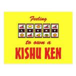 Lucky to Own a Kishu Ken Fun Dog Design Post Cards